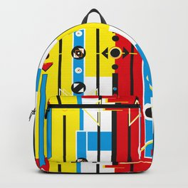 Graphic retro weave Backpack