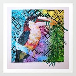 The Origin of the Aracari ( Toucan Bird Whisperer Project ) Art Print