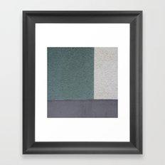 Green Stucko Framed Art Print
