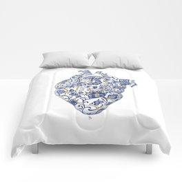 Broken heart - kintsugi Comforters