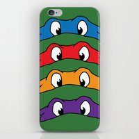 tmnt iPhone & iPod Skins featuring TMNT by Kaylabeaisaflea