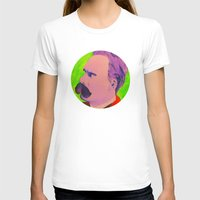 nietzsche T-shirts featuring Colorful Nietzsche by TheMessianicManic