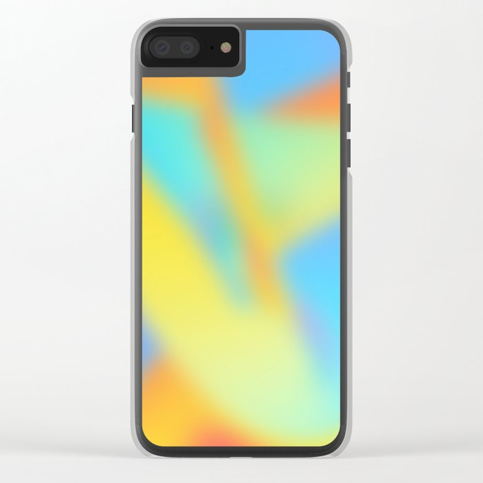 pastel shades of rainbow Clear iPhone Case