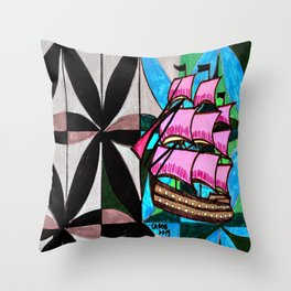 Ship #1 Throw Pillow