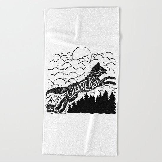 WILD BEAST Beach Towel