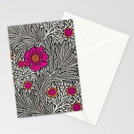 William Morris Marigold, Gray / Grey, and Fuchsia Stationery Cards