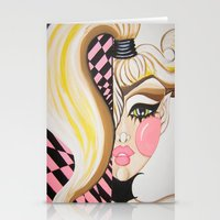blondie Stationery Cards featuring Blondie by Artist Fran Doll