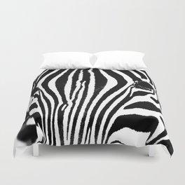 Zebra close up Duvet Cover