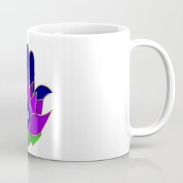 Lotus Hamsa Evil Eye Coffee Mug