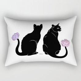 Flower Cats Rectangular Pillow