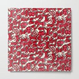 chinese animals red Metal Print