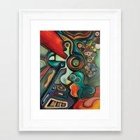 phish Framed Art Prints featuring Phish by Dena Nord