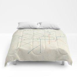 Minimal Philadephia Subway Map Comforters