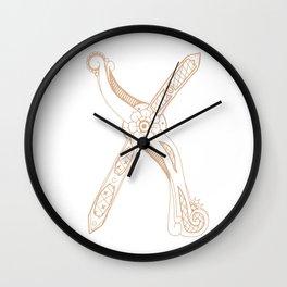 Fancy X Wall Clock