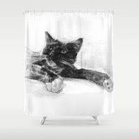 elvis Shower Curtains featuring Elvis by Kevin Thomas