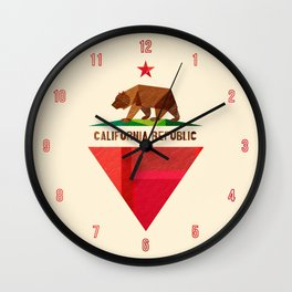 California 2 (rectangular version) Wall Clock