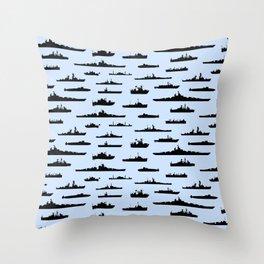 Battleship // Light Blue Throw Pillow