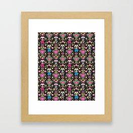 Muertos Party Framed Art Print