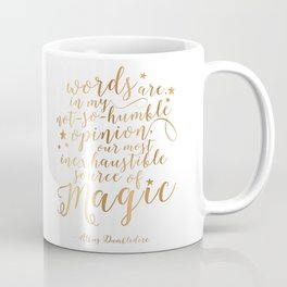 Dumbledore's Magic Words Coffee Mug
