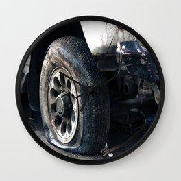 Flat Tire! Wall Clock