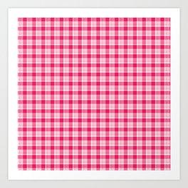 Pink Plaid Art Print