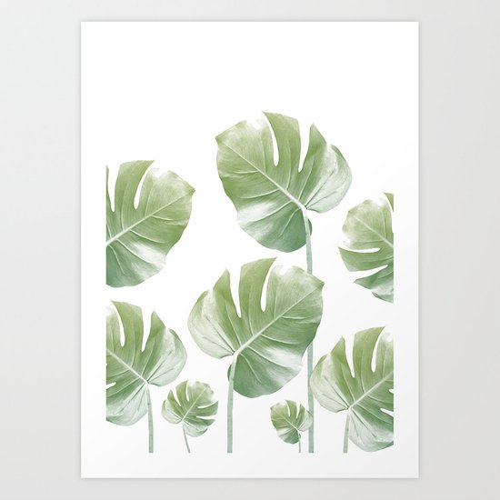 Monstera Rising Art Print