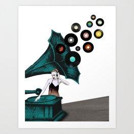 Grammo DJ Art Print