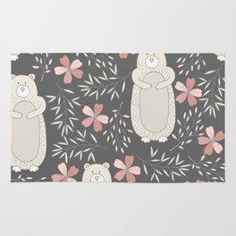 Bear and Flowers Rug