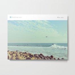 Pantone: Malibu Metal Print