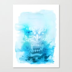 Démon Blue Canvas Print