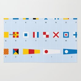Maritime Signal Flags Poster Rug