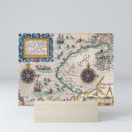 Vintage Nautical Map of the Northeast Passage,1601 Mini Art Print