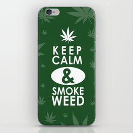 """Keep Calm and Smoke Weed"" iPhone Skin"