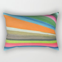 Transforming Vertical Stripes Rectangular Pillow