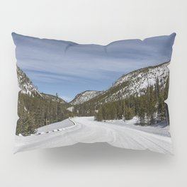 Carol Highsmith - Snow Covered Road Pillow Sham
