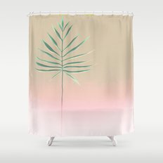 Pink & Palm Shower Curtain