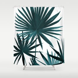 Fan Palm Leaves Jungle #1 #tropical #decor #art #society6 Shower Curtain