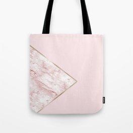 Blush pink geo - pink marble Tote Bag