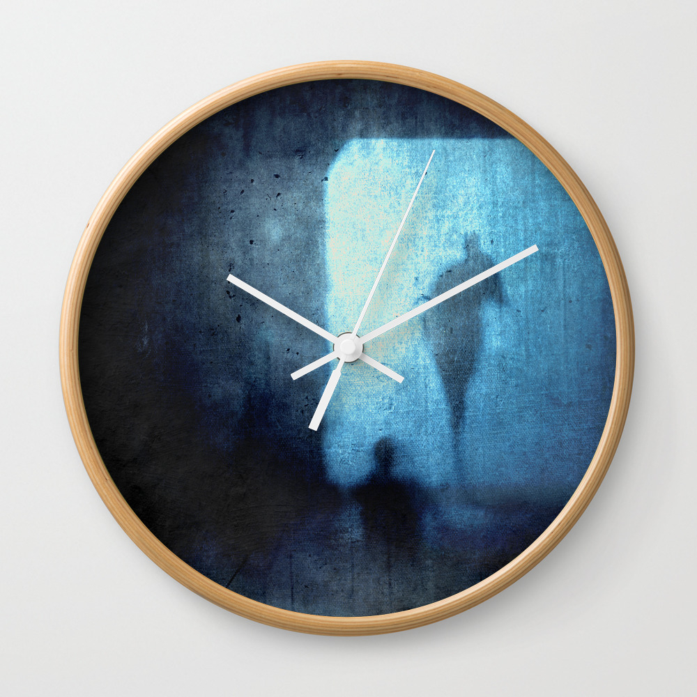Ghost 2 Ghost Wall Clock by Dirkwuestenhagenimagery CLK772206
