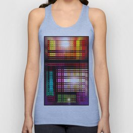 Colorful glass lens window. Unisex Tank Top