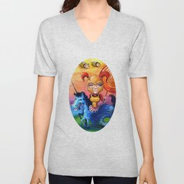 The Candy Warrior Unisex V-Neck