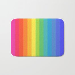 Solid Rainbow Badematte