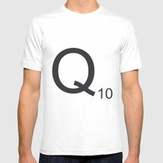 Scrabble Q Mens Fitted Tee MEDIUM White