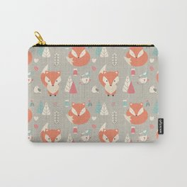 Baby fox pattern 01 Carry-All Pouch