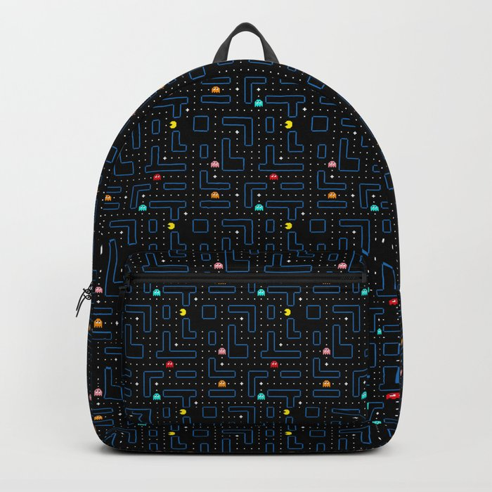 Pac-Man Retro Arcade Gaming Design Backpack