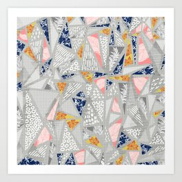 Geometric forms of nature Art Print