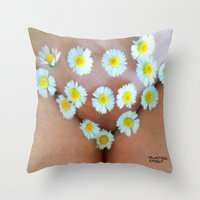 cunt Throw Pillows featuring funny painting BDSM fetish Big dick cock suck oral sex pussy cunt transgender fuck slut bitch by Velveteen Rodent