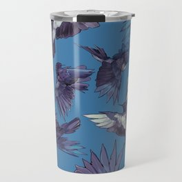 navy birds Travel Mug