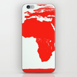 World Map red iPhone Skin