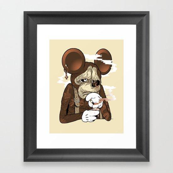 Mickey 3: Depression Framed Art Print